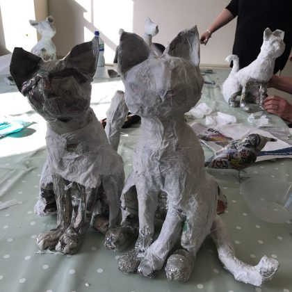 Creative Mash Ups - Kent based Artist Working mainly in Papier Mache & Felt Workshops