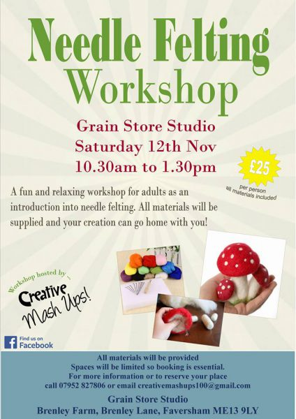 Mushroom Felting Workshop